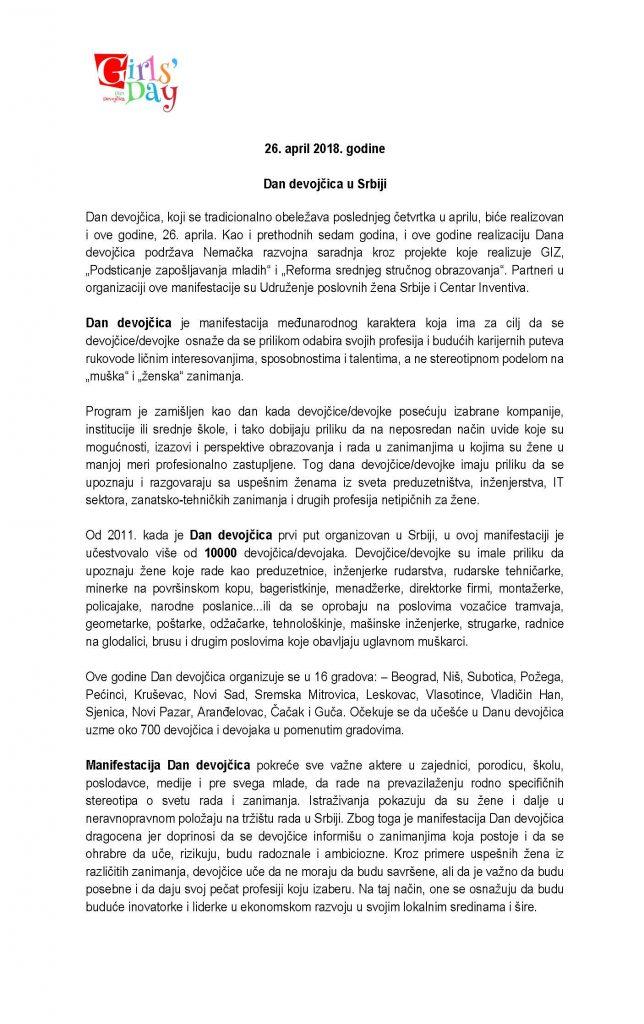 Info za medije_Dan devojcica_2018